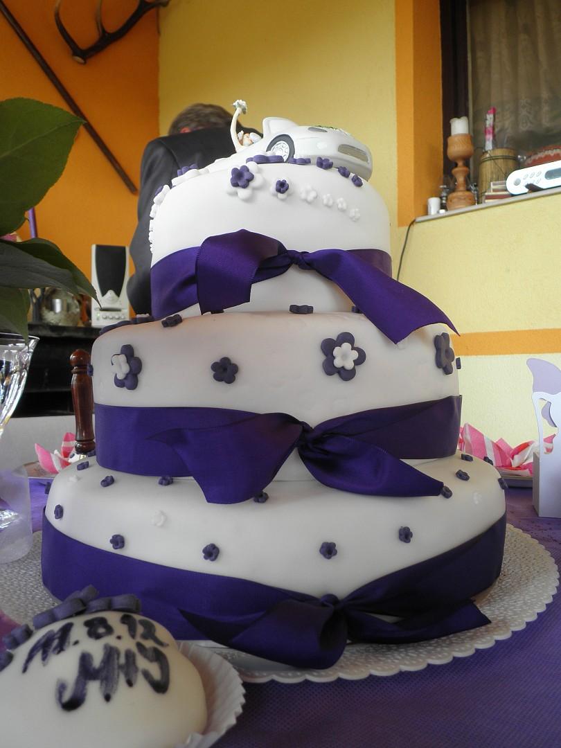 Svatební dort + mini dortíky recept