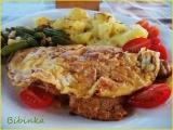 Nedělní řízky utajené v omeletách recept