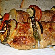 Špízy z mletého masa se zeleninou recept