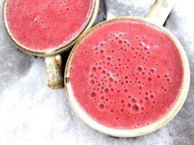 Malinový koktejlík