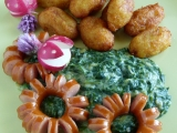 Hňupky se špenátem speciál recept