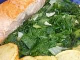 Losos s mangoldem recept