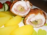 Kuřecí závitky s kiwi a banánem recept