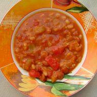 Pikantní barevné fazole recept