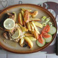 Losos s pečenými bramborami recept