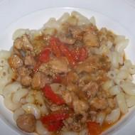 Krůtí guláš s rajčaty a paprikami recept