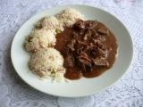 Vepřová játra se šunkovou rýží recept