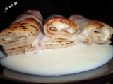 Zapečené palačinky s vanilkovým krémem recept