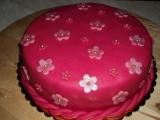 Růžový dort pro Evičku recept