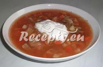 Jednoduchý boršč z Podkrkonoší recept  polévky