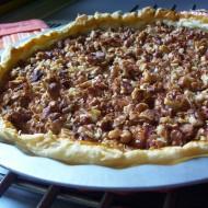 Jablkový listový koláč s ořechy recept