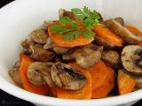 Pečená mrkev a žampiony recept
