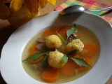 Polévkové rýžové knedlíčky se sýrem recept