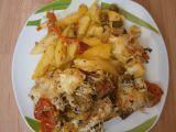 Vepřová krkovička zapečená s brambory, rajčaty a olivami recept ...