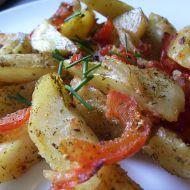 Grilované brambory s rajčaty recept