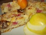 Lehký reveňovo  jablečný koláč s mandlovou drobenkou recept ...