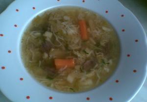 Hovězí polévka s masem  dietní