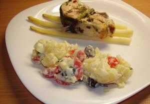 Bramborovo-olivový salát