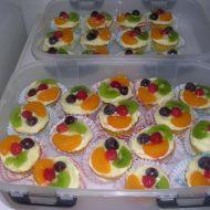 Pudinkové košíčky s ovocem recept