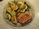 Losos se zeleninou v parním hrnci recept