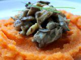 Hlíva ústřičná s mrkvovo-celerovým pyré recept