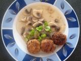 Placičky s houbovou omáčkou recept