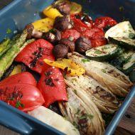 Grilovaná zelenina s dresingem z pečeného česneku recept ...