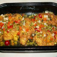 Řízek naruby se zeleninou recept