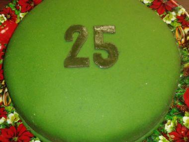 Narozeninový marcipánový lehký dort