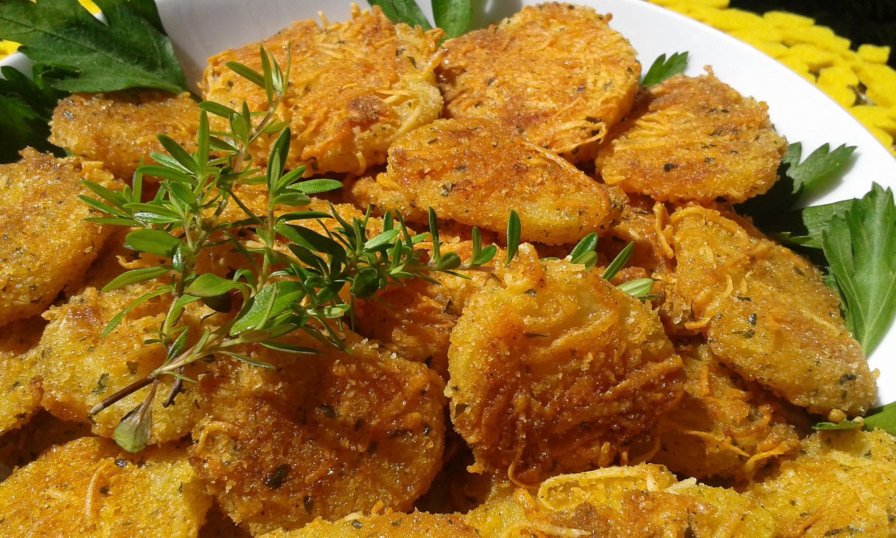 Pečené křupavé brambory se sýrem recept