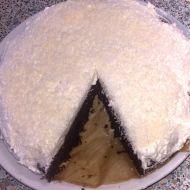 Černá a bílá  kokosovo-kakaový dort recept