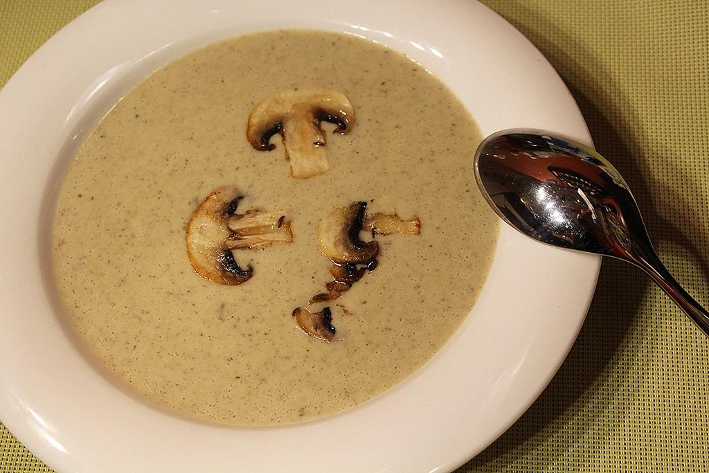 Pórková polévka se žampiony recept