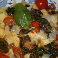 Tagliatelle se smrži, špenátem, rajčaty a parmazánem recept ...