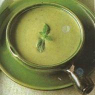 Hrachová polévka s čerstvou mátou z mikrovlnky recept