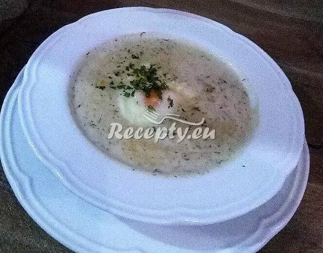 Koprová polévka se sójou recept  pro vegetariány