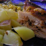 Plněný kuřecí závitek ochucený tymiánem recept