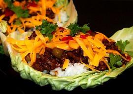 Listy plněné masovou směsí s rýží recept