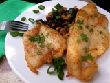 Ryby na žampionech recept