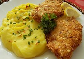 Kuřecí mandlové řízky se šafránovou kaší recept