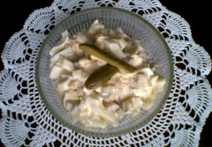 Bramborovo-okurkový salát