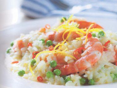 Krevetové rizoto s hráškem