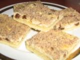 Tvarohový koláč s oříšky. recept