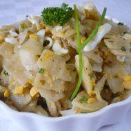 Těstovinový salát se zelím recept