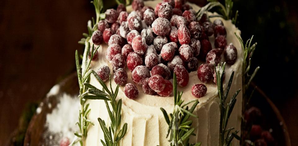 Brusinkový dort s bílou čokoládou