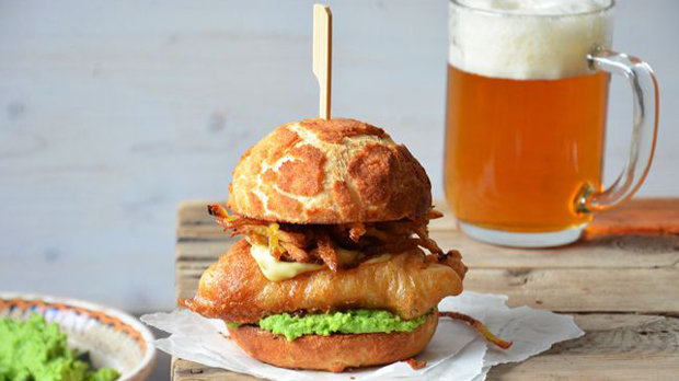 Fish & chips burger