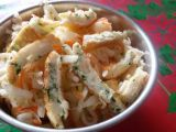 Salát s bílkovým svítkem a řeřichou recept