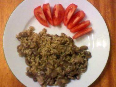 Recept Žampionová rýže