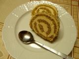 Ořechová roláda s karamelovým krémem recept