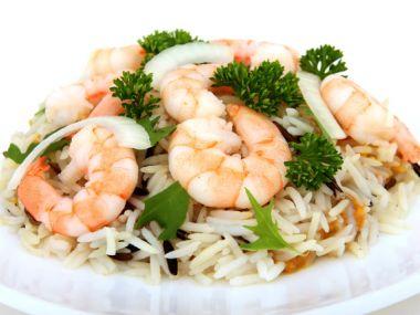 Vlahý krevetový salát s rýží