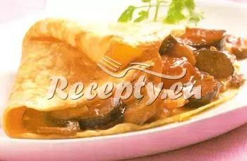 Houbová omeleta recept  jídla z vajec